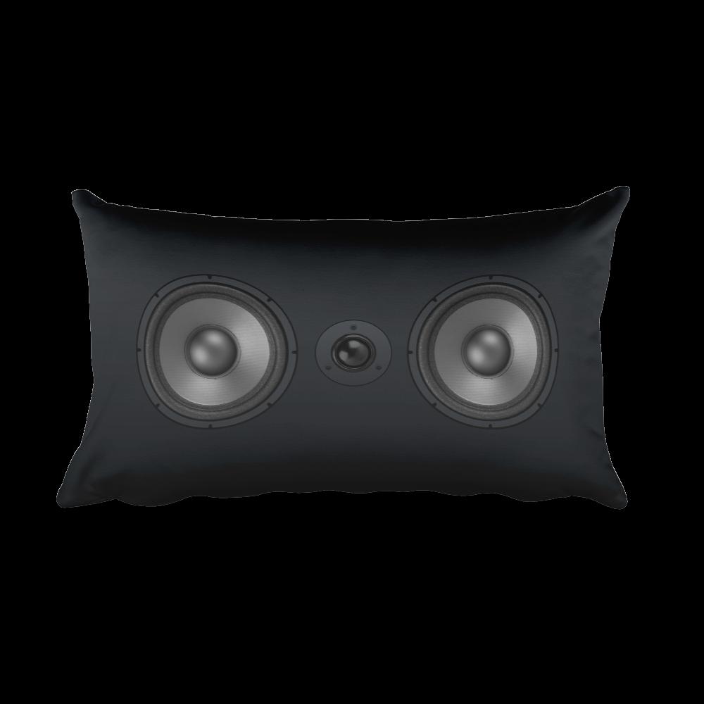 Studio speaker 20x12 decorative pillow octave apparel for Music speaker pillow